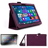 DURAGADGET Executive Purple Faux Leather Folio Case With Built In Stand Custom Designed For The Microsoft Surface 10.6 Inch Tablet (With Windows RT, 32GB, 64GB, Type Cover Keyboard) + FREE Gift: Screen Protector Worth £3.99