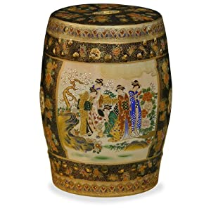 Amazon.com - Satsuma Design Porcelain Garden Stool - Japanese ...
