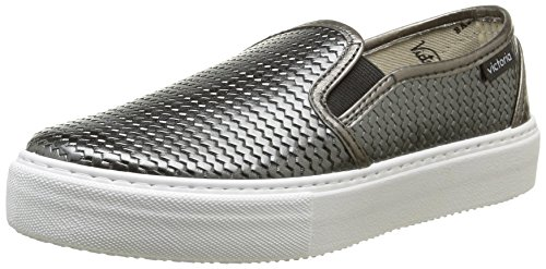 Victoria  Slip On Tej Trenza Metalizado,  Sneaker donna Grigio Gris (Plomo) 38