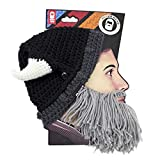 Beard Head - The Original Barbarian Looter Knit Beard Hat (Grey)