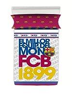 FC Barcelona Juego de Sábanas Escudo (Gris / Granate)