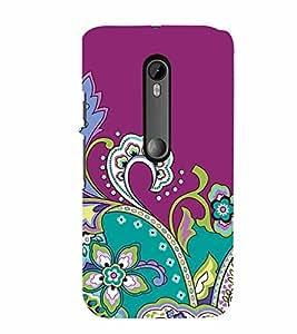 PrintVisa MOTG3-Corporate Print & Pattern Modern Art Floral Back Cover (Multicolor)