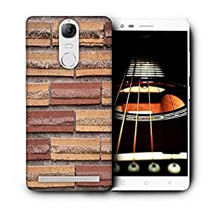 Snoogg Wall Bricks Printed Protective Phone Back Case Cover For Lenovo K5 Note