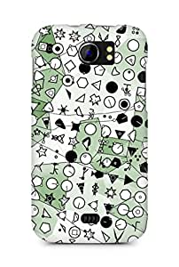Amez designer printed 3d premium high quality back case cover for Micromax Canvas 2 A110 (Symbolic green crystallization)