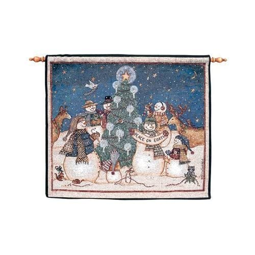 Amazon.com - Snowmen Peace on Earth Christmas Holiday Wall