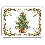 Christmas Tree Bordered Placemats by Jason - Set of 6