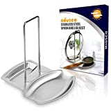 Miusco Stainless Steel Spoon and Lid Rest, Brushed Finished