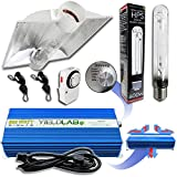 Yield Lab 600w HPS Cool Tube Hood Reflector Grow Light Kit