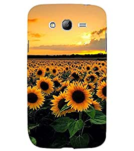 Printvisa Blooming Sunflower Field Back Case Cover for Samsung Galaxy Grand i9080:::Samsung Galaxy Grand i9082