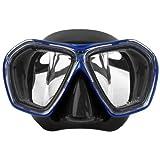 ダイビングマスク度付きレンズセット アクアラング ニーナマスク+度付きレンズセット BKBL(ブラック×ブルー)