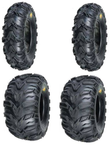 2 FRONT 25-8-12 & 2 REAR 25-10-12 ATV MUD REBEL TIRES (Atv Rims And Mud Tires Set compare prices)