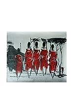 Legendarte Pintura al Óleo sobre Lienzo Rito Tribale