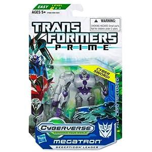 Megatron Transformers Prime Cyberverse Commander Class Action Figure with DVD