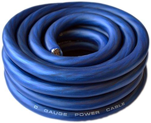 SoundBox Connected 0 Gauge Blue Amplifier Amp Power/Ground 1/0 Wire 25 Feet SuperFlex Cable 25' (1 0 Gauge Wire compare prices)