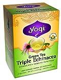 Yogi Triple Echinacea Green Tea, 16 Tea Bags X 6