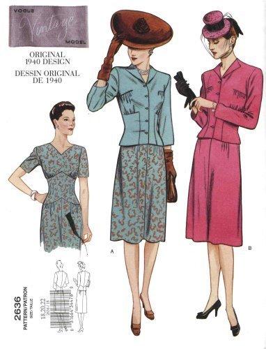 "Vogue ""Vintage Model"" Sewing Pattern # 2636 by Vogue [並行輸入品]"