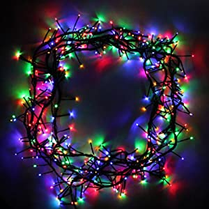 360 multi colour cluster led garland christmas tree lights string with