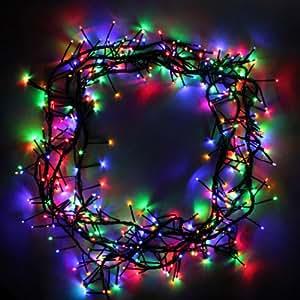 360 multi colour cluster led garland christmas tree lights. Black Bedroom Furniture Sets. Home Design Ideas