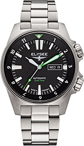 ELYSEE Made in Germany Dual Timer Men's 41mm Automatic Mineral Glass Watch 87001
