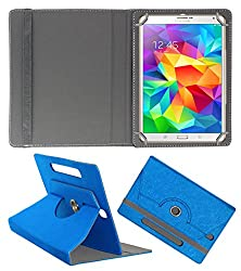Acm Designer Rotating Case For Samsung Tab S 8.4 Stand Cover Dark Blue
