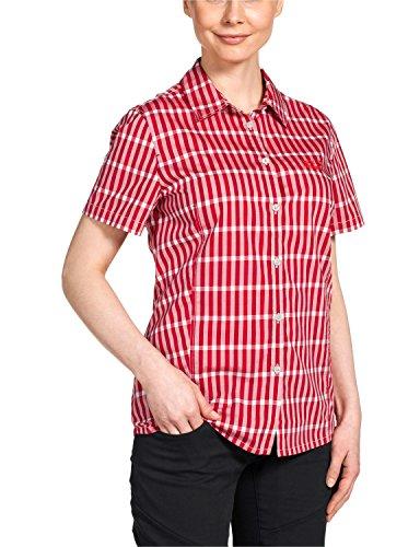 Jack Wolfskin Damen Bluse River Shirt Women, Indian Red Checks, XXL, 1400991-7286006