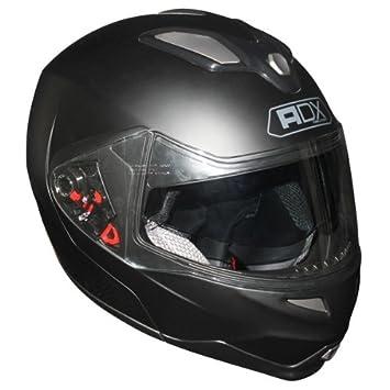 Casque moto modulable ADX M2 - Double écran - Noir mat