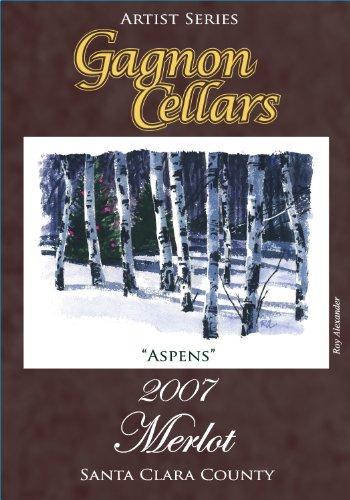 """2007 Gagnon Cellars """"Aspens"""" Merlot 750 Ml"""