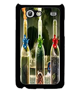ColourCraft Flaming Bottles Design Back Case Cover for SAMSUNG GALAXY S ADVANCE I9070