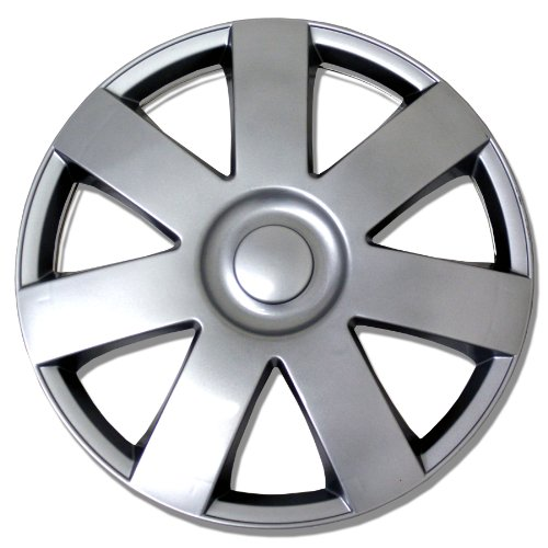 TuningPros WSC-800S14 Hubcaps Wheel Skin Cover 14-Inches Silver Set of 4 (Hubcaps For Toyota Yaris 14 Inch compare prices)