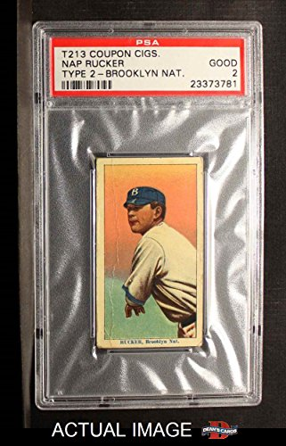 1910 Coupon T213 # 216 BRK Nap Rucker Brooklyn Dodgers (Baseball Card) (Brooklyn Nat. Type 2) PSA 2 - GOOD