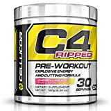 Cellucor C4 Ripped Preworkout Thermogenic Fat Burner Powder, Preworkout Energy, Weight Loss, 180 g (6.34 oz) , 30 Servings, Cherry Limeade