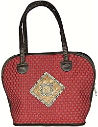 Saffron Craft Women's Handloom Cotton Handbag - B01FK6LEIU