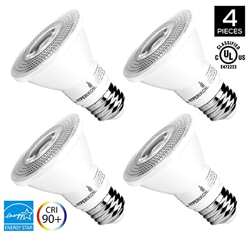 Hyperikon PAR20 Dimmable LED Bulb, 8W (50W equivalent), 3000K (Soft White Glow), CRI90+, Flood Light Bulb, 40° Beam Angle, Medium Base (E26), ENERGY STAR & UL Listed - (Pack of 4) (20watt Led Lightbulb compare prices)