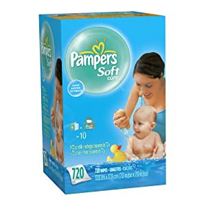 Pampers SoftCare Scented 10X Wipes 720 Count
