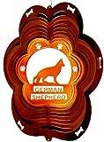 Stainless Steel German Shepherd Dog 12 Inch Wind Spinner, Copper