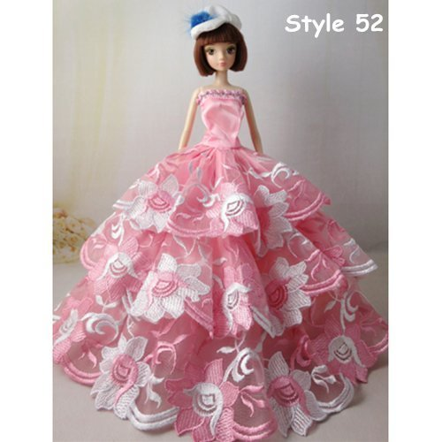 Wotefusi Barbie Doll Clothes Lovely Fancy Elegant Gowns Wedding ...