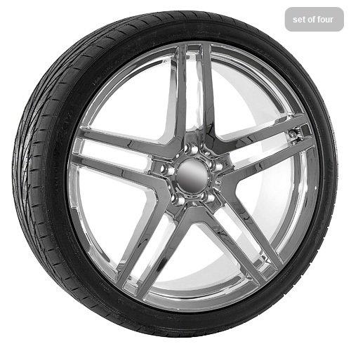 20 Inch Chrome AMG Wheels Rims & TIres