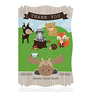 baby shower thank you cards woodland creatures toys