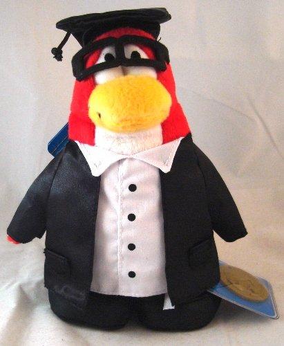 Picture of Jakks Pacific Disney Club Penguin 6.5 Inch Series 8 Plush Figure Graduate [Includes Coin with Code!] (B003N9P5DM) (Jakks Pacific Action Figures)