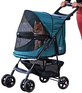 Pet Gear Happy Trails No Zip Pet Stroller, Emerald