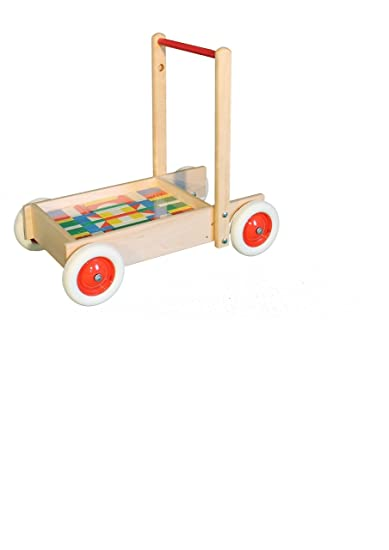 Cours la voiture avec les composants, jusqu'à 30 kilogrammes de 55 x 49 x 34 blocs constitutifs de cm des pierres en bois