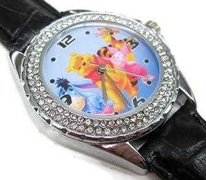SUS296 New Leather 118 Diamond Crystal Watch / Disney Winnie Pooh Eeyore Piglet Tigger