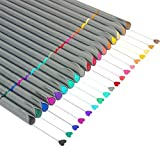 Fineliner Color Pens Set, Taotree Fine Line Colored Sketch Writing Drawing Pens for Bullet Journal Planner Note Taking and Coloring Book, Porous Fine