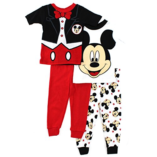 Mickey Mouse Toddler 4 pc Cotton Pajamas Set