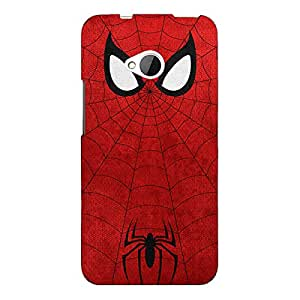 Jugaaduu Superheroes Spider Man Back Cover Case For HTC One M7