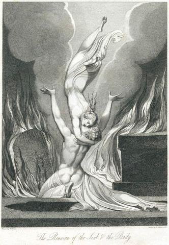 The Reunion of the Soul and the Body by William Blake and Louis Schiavonetti - 18