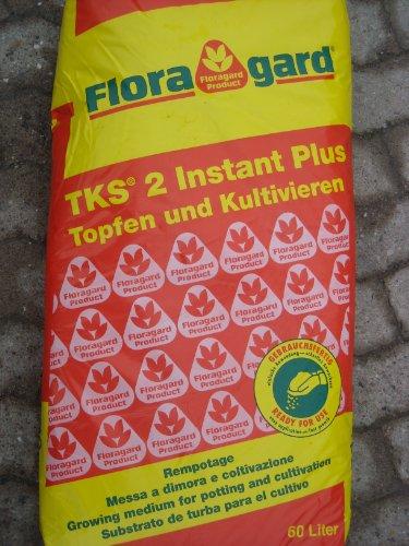 Floragard TKS 2 istantanea più substrato per la coltivazione di piante in vaso 60 l