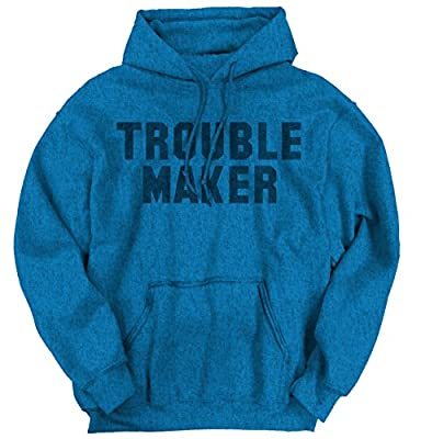 Trouble MakerFashion Rihanna Jay Z Hip Hop Skate Slogan Hoodie