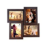 #9: WENS 4-Picture MDF Photo Frame (13.5 inch x 13.5 inch, Brown, WS-4012)