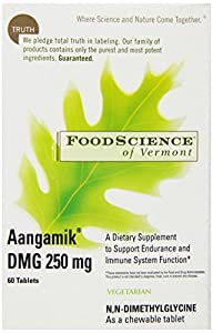 Food Science of Vermont AANGAMIK DMG, 250 mg, Chewable Tablet, 60 tablets